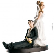 Deco bolo noiva arrasta noivo