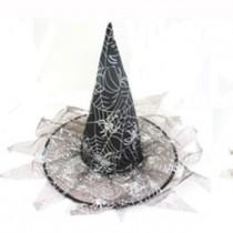 Chapéu de bruxa com franjas