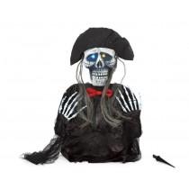 Esqueleto com olhos luminosos