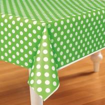 Toalha de mesa verde com...
