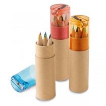 Lápis de cor com afiadeira