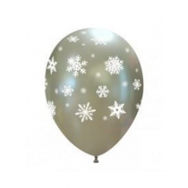 Balões latex Flocos de Neve