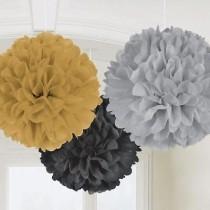 Pompom decorativo 3 cores