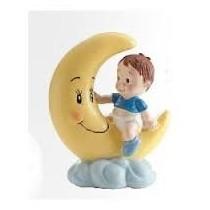 Deco Bolo Bebé na Lua