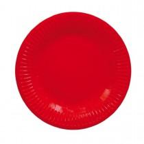 Prato Papel Vermelho 18cm