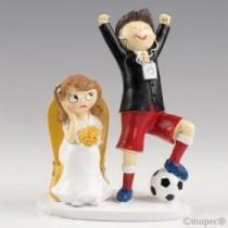 Deco Bolo Noivo Futebolista