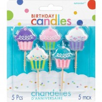Velas Cupcake 5 peças