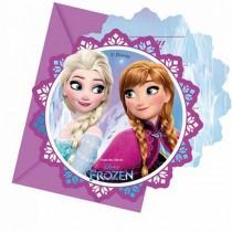 Convites Frozen 6 unid.