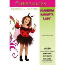 Disfarce Joaninha 3-4 Anos
