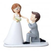 Deco bolo noivos declaração...