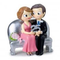 Deco bolo bodas casal 25 Y125
