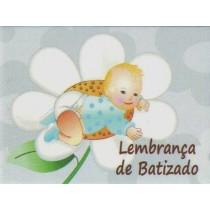 Etiqueta batizado bebé flor...