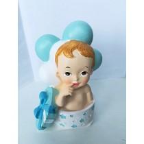 Deco Bolo Bébé na Caixa Azul