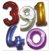 Balão Foil Número 1mt