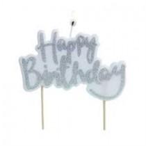 Vela Happy Birthday glitter...