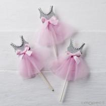 Pick Bailarina Rosa 14cm 5...