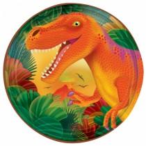 Pratos dinossauros 18cm