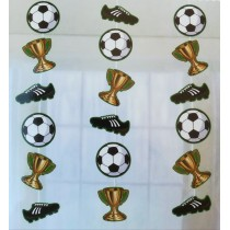 Cortina futebol 3 pçs 90cm