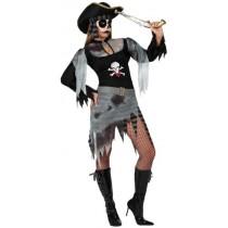 Disfarce Pirata Zombie M-L