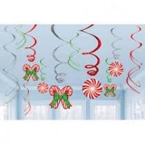Swirls doces de natal