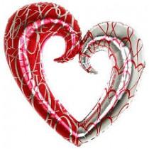 Balão Foil coração