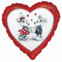 Balão Foil Coração Mickey e...