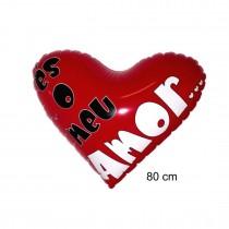 Coração Insuflavel 80cm AMOR