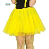 Saia Tule Neon 40cm Amarela
