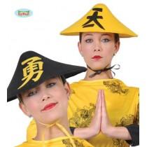 Chapéu Chinês Amarelo/ Preto