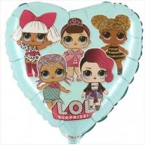 Balão Foil Coração LOL...