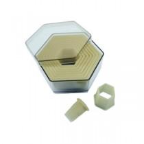 Cortador Hexagonal Liso 9 pçs