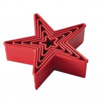 Cortador Estrela Liso 5 pçs