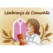 Etiqueta comunhão janela rosa