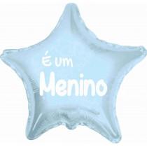 """Balão foil estrela azul """"é..."""