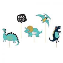 Topo de Bolo Dinossauros 5 pçs