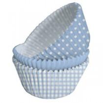 Forma para cupcake azul...