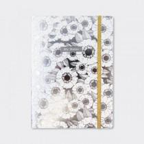 Notebook A5 Floral Prateado...