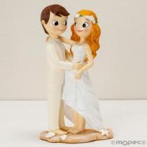 Deco Bolo Casamento Noivos Descalços Y416