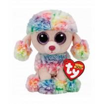 TY Peluche Rainbow Poodle 15cm