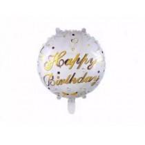 Balão Foil Happy Birthday ouro