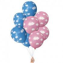 Balões latex com núvens...