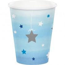 Copos Little star azul