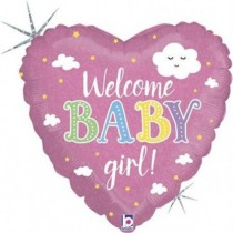 Balão Foil Coração Baby Girl