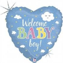 Balão Foil Coração Baby Boy