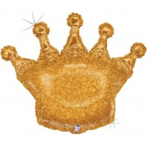 Balão Foil Coroa glitter...