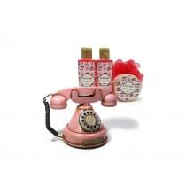Telefone vintage c/cosméticos