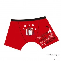 Boxer vermelho Prenda L