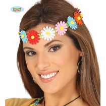 Fita de Cabeça C/ Flores...