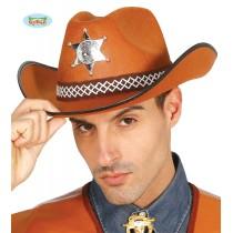 Chapéu Xerife Feltro Castanho