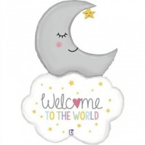 Balão Foil Welcome Baby Moon
